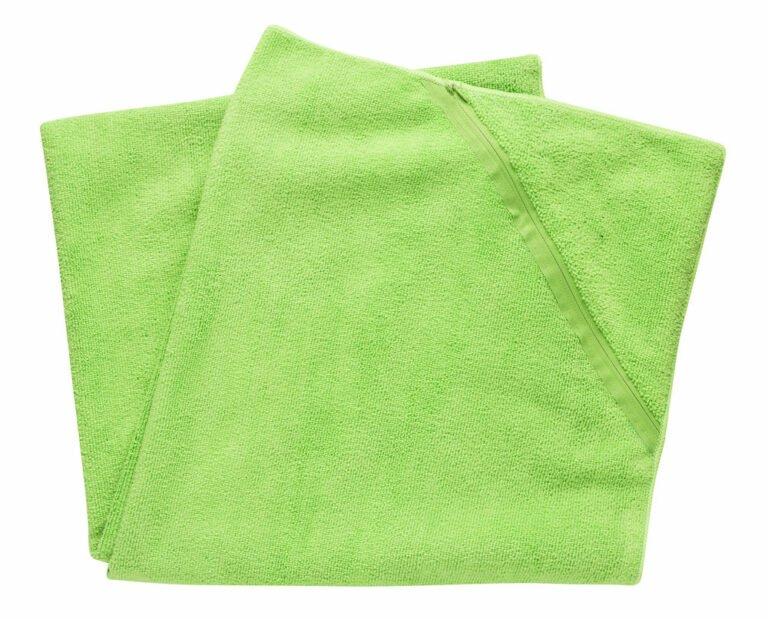Urheilupyyhe taskulla, vihreä
