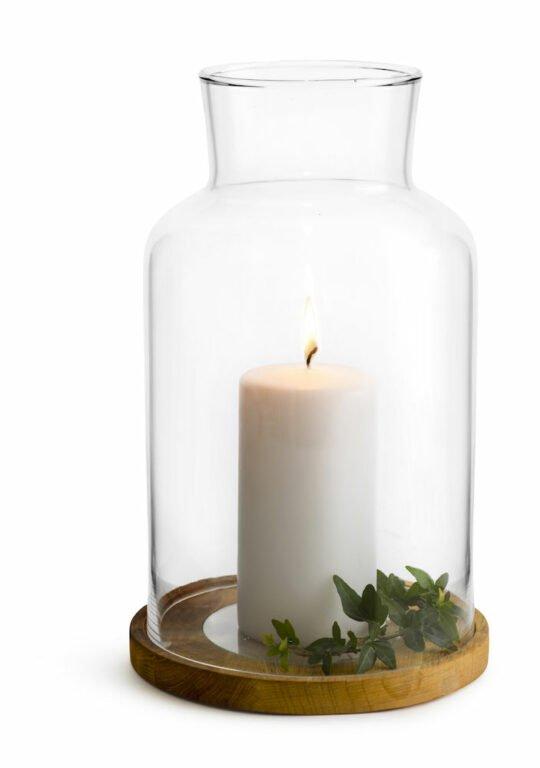 Oval oak kynttilälyhty + kynttilä