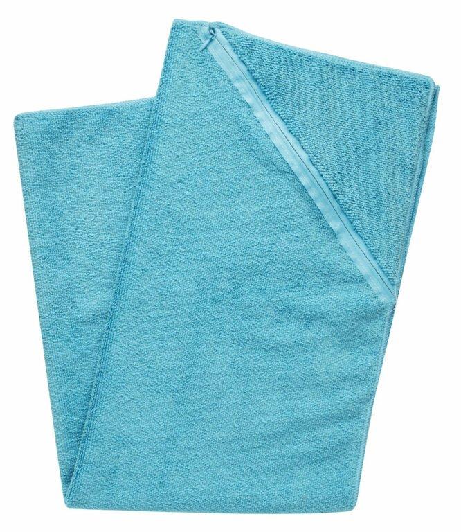 Urheilupyyhe taskulla sininen, pieni