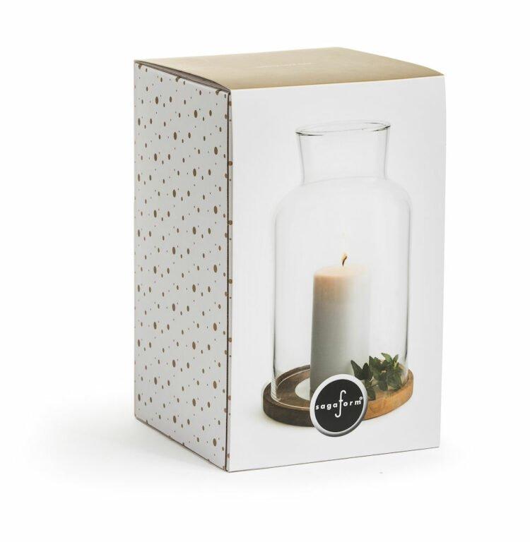 Oak kynttilälyhty ja kynttilä