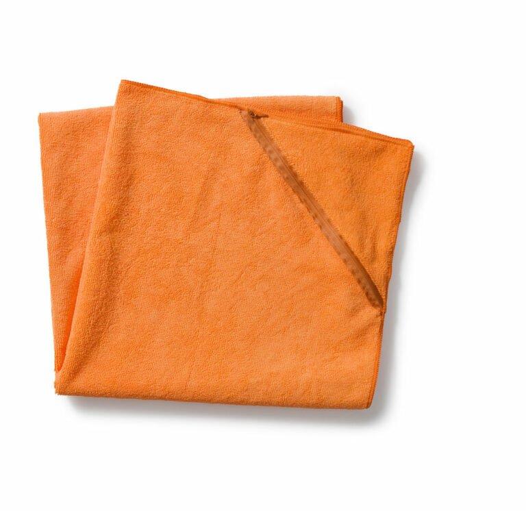 Taskullinen treenipyyhe iso, oranssi