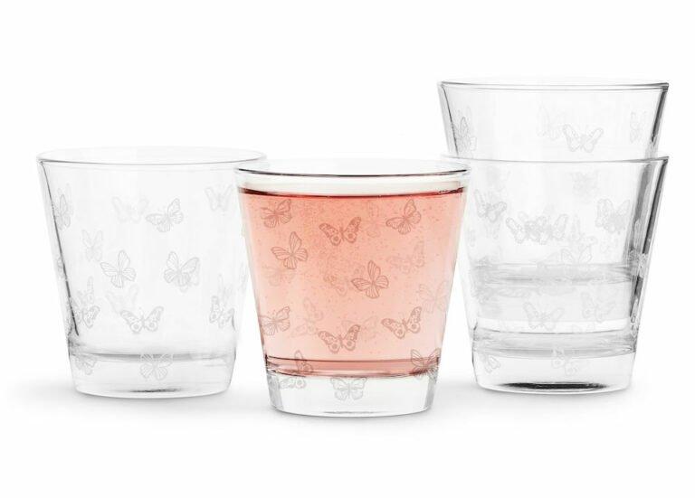 Butterfly lasi, 4 kpl, valkoinen