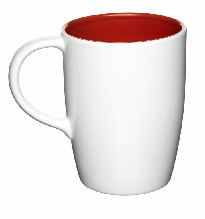 Liberica-muki iso, valkoinen, punainen sisus