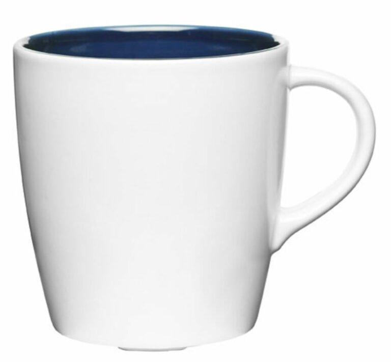 Liberica-muki pieni, valkoinen, sininen sisus