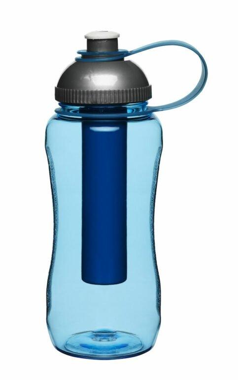 Pullo kylmäpatruunalla, sininen
