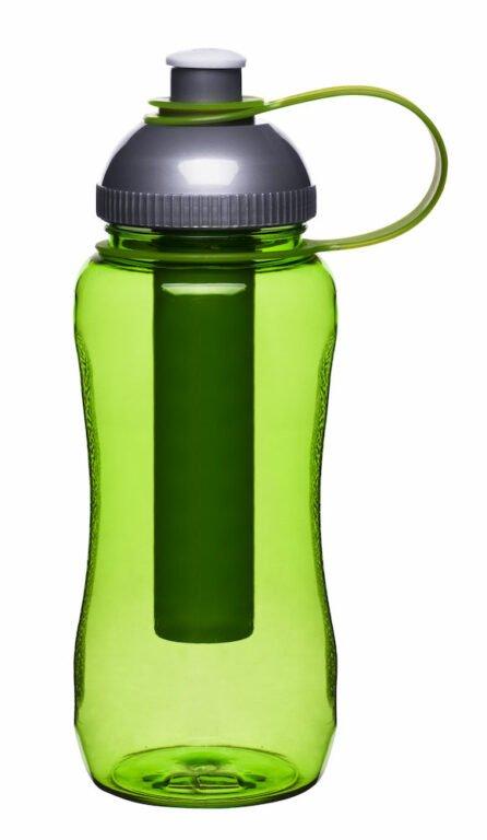 Pullo kylmäpatruunalla, vihreä