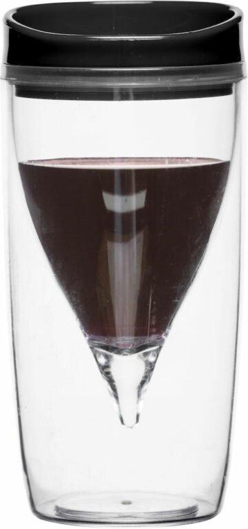 Picnic viinilasi, musta kansi