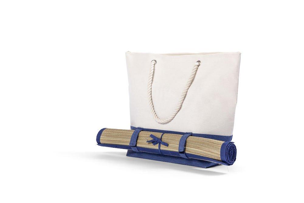 Rantakassi ja bambumatto